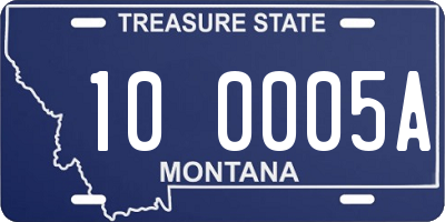MT license plate 100005A