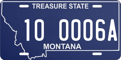 MT license plate 100006A