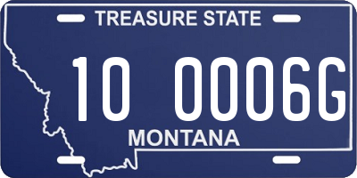 MT license plate 100006G