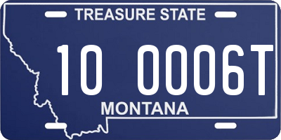 MT license plate 100006T