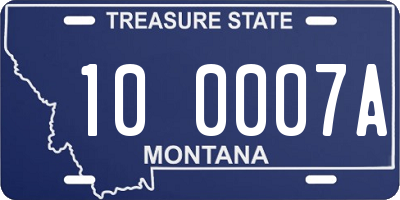 MT license plate 100007A