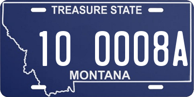 MT license plate 100008A