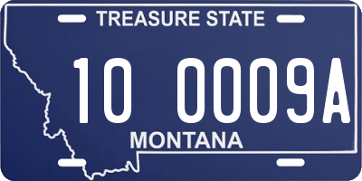 MT license plate 100009A