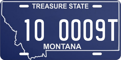 MT license plate 100009T
