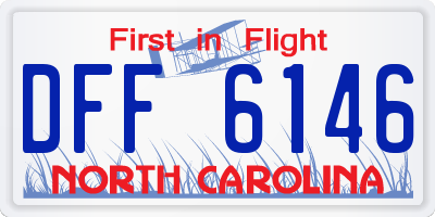 NC license plate DFF6146