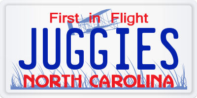 NC license plate JUGGIES
