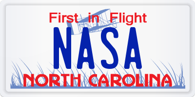 NC license plate NASA