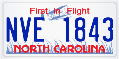 NC license plate NVE1843