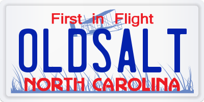 NC license plate OLDSALT