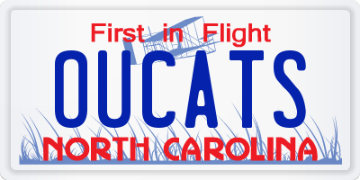 NC license plate OUCATS