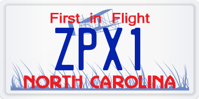 NC license plate ZPX1