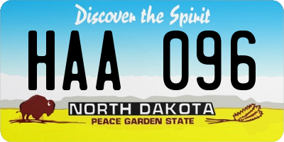 ND license plate HAA096