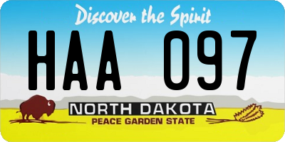 ND license plate HAA097