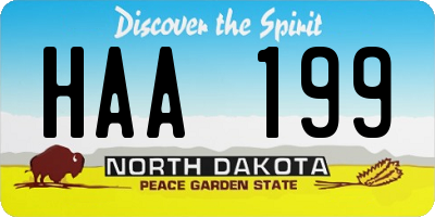 ND license plate HAA199