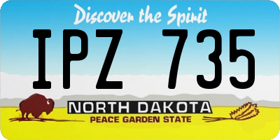 ND license plate IPZ735