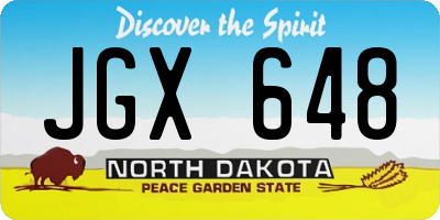 ND license plate JGX648