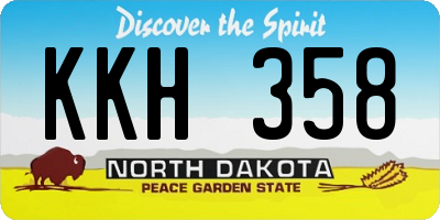 ND license plate KKH358