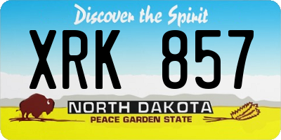 ND license plate XRK857