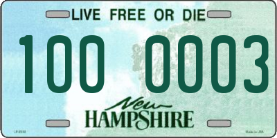 NH license plate 1000003
