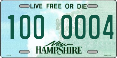 NH license plate 1000004
