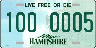 NH license plate 1000005