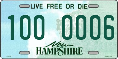 NH license plate 1000006