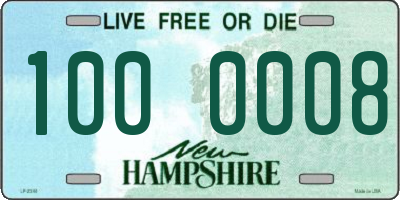 NH license plate 1000008