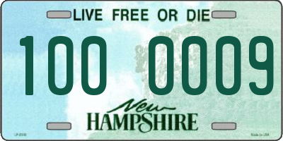 NH license plate 1000009