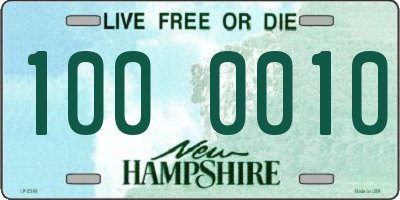NH license plate 1000010