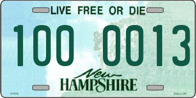 NH license plate 1000013
