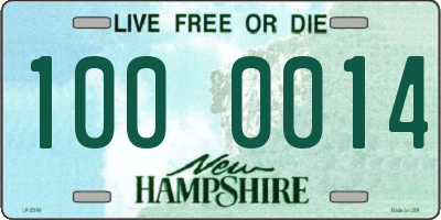 NH license plate 1000014