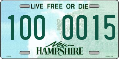 NH license plate 1000015