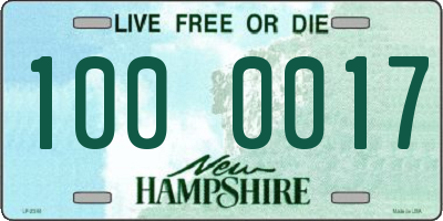 NH license plate 1000017