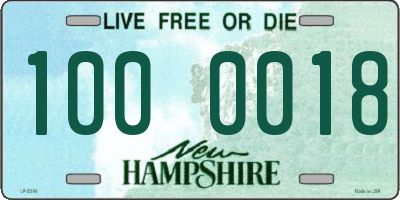 NH license plate 1000018
