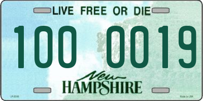 NH license plate 1000019