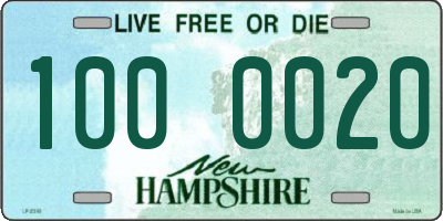 NH license plate 1000020