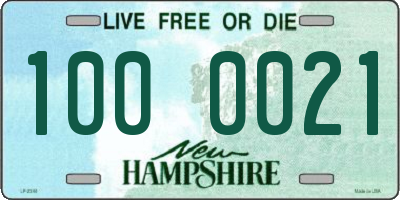 NH license plate 1000021