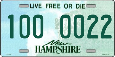 NH license plate 1000022
