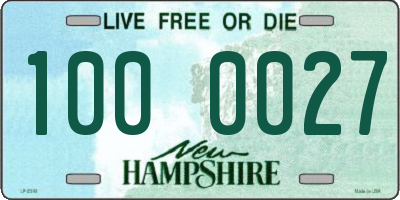 NH license plate 1000027
