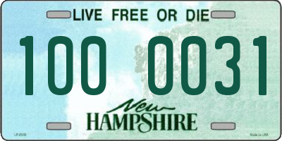 NH license plate 1000031