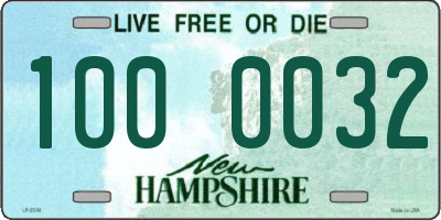 NH license plate 1000032