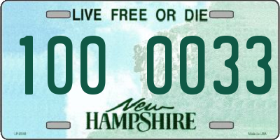 NH license plate 1000033