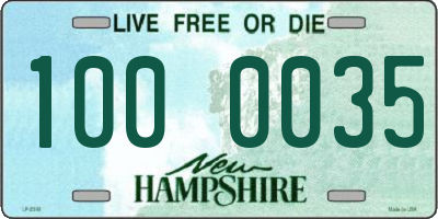 NH license plate 1000035