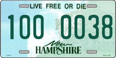 NH license plate 1000038