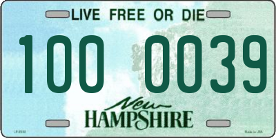 NH license plate 1000039