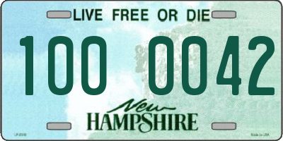 NH license plate 1000042