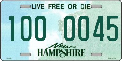NH license plate 1000045