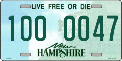 NH license plate 1000047