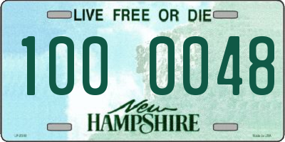 NH license plate 1000048