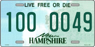 NH license plate 1000049